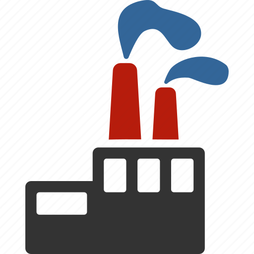 ecology, fabric, factory, industry, plant, power, production icon