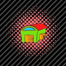 architecture, building, comics, door, garage, metal, new icon