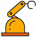 auto, industry, machine, mechanic, production, robot, robotic arm icon
