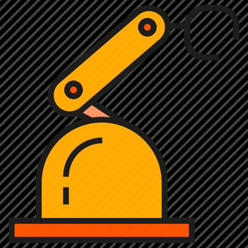 auto, industry, machine, mechanic, production, robot, robotic arm icon