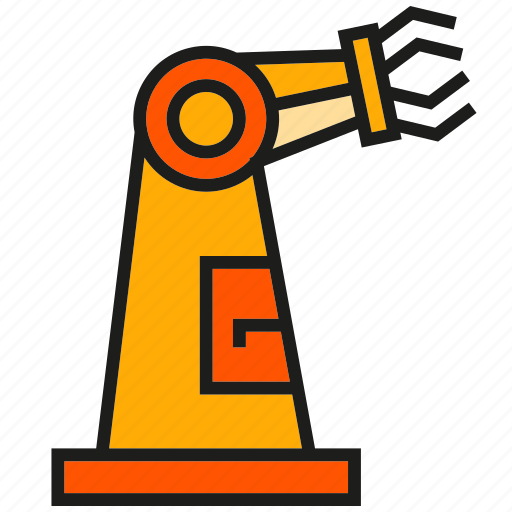 auto, machine, manufacturing, production, robot, robotic arm, robotic hand icon