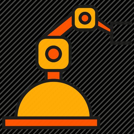 auto, industry, machine, manufacturing, mechanic, robot, robotic arm icon
