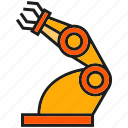 industry, machine, manufacturing, mechanic, robot, robotic arm, robotic hand icon