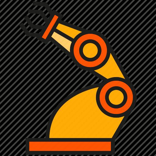 industry, machine, manufacturing, mechanic, robot, robotic arm, robotic hand icon