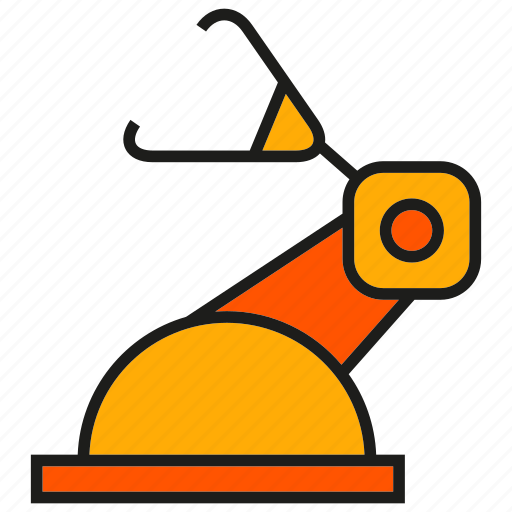 auto, industry, machine, manufacturing, production, robot, robotic arm icon