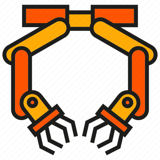 industry, machine, mechanic, production, robot, robotic arm, robotic hand icon