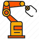 industry, machine, manufacturing, pick, production, robot, robotic arm icon