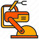 industry, machine, manufacturing, mechanic, production, robot, robotic arm icon
