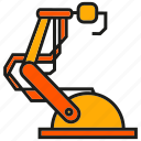 control, industry, machine, manufacturing, mechanic, robot, robotic arm icon