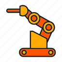 cnc, industry, machine, manufacturing, mechanic, robot, robotic arm icon