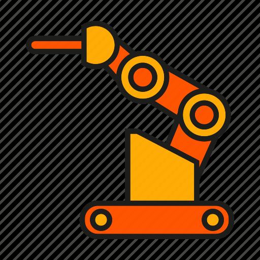 cnc, industry, machine, manufacturing, mechanic, robot, robotic arm icon
