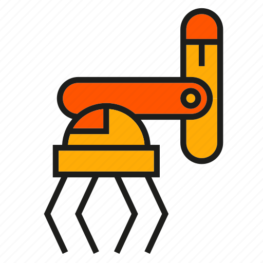 industry, machine, manufacturing, pick, robot, robot hand, robotic arm icon