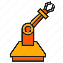 industry, machine, manufacturing, mechanic, robot, robot hand, robotic arm icon