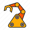 industry, machine, manufacturing, mechanic, rescue robot, robot, robotic arm icon