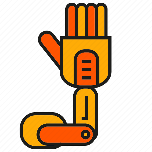 hand, industry, machine, mechanic, robot, robotic arm, robotic hand icon