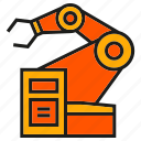 cnc, industry, machine, manufacturing, production, robot, robotic arm icon
