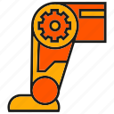 industry, leg, machine, robot, robotic arm, robotic leg, technology icon