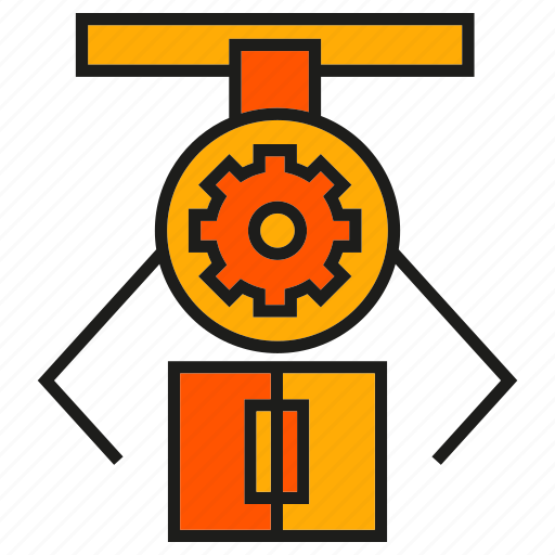 industry, machine, manufacturing, mechanic, pick, production, robot icon