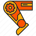 industry, leg, machine, mechanic, robot, robotic leg, technology icon