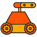 cute, machine, mechanic, rescue robot, robot, robotic arm, toy icon