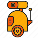 cute, machine, mechanic, robot, robotic arm, toy icon