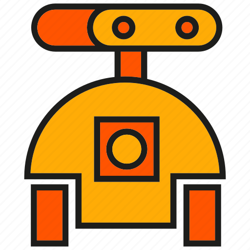cute, rescue robot, toy icon