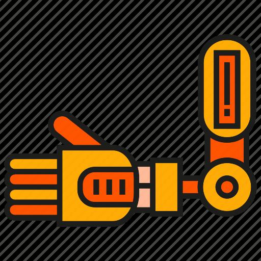 hand, industry, machine, manufacturing, mechanic, robot, robotic hand icon