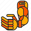 arm, industry, machine, mechanic, robot, robotic arm, robotic hand icon