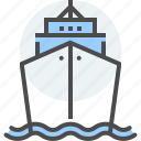 cargo, marine, maritime, passenger, sea, ship, transport icon
