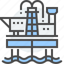 gas, natural, offshore, oil, petrol, platform, rig icon