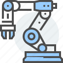 arm, artificial, computer, intelligence, manufacturing, robot, technology icon