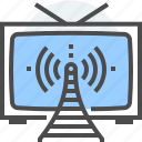 broadcasting, online, television, tv, video, watch icon