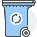 disposal, environment, management, recycled, residual, waste icon