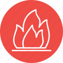 energy, fire, flame, industry, light icon