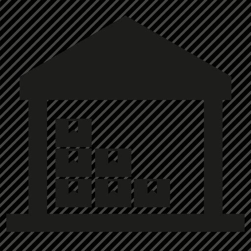 box, building, shipping, storage, warehouse icon