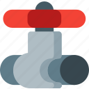 construction, equipment, flow, pipe, plumbing, valve, water icon