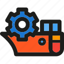 cargo, sea, ship, shipping, transportation, truck, vehicle icon