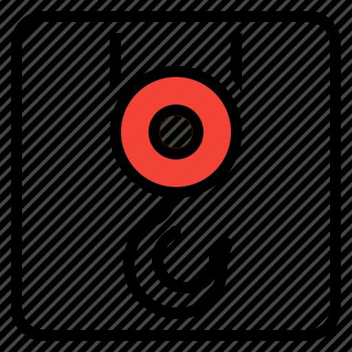 Crane, hoist, hook, industry, lift icon - Download on Iconfinder