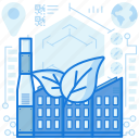 building, chimney, eco, ecology, factory, green, industry