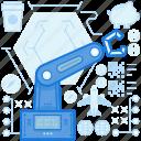 industry, production, machine, equipment, robotic, tool, hand icon