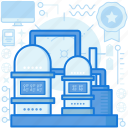 appliance, factory, industry, machine, metal, production icon