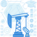 dig, industry, machine, mining, oil, production icon