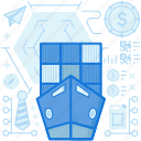 boat, container, crate, ship, shipping, transport, transportation