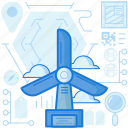 electricity, energy, industry, mill, power, production, windmill