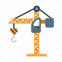 construction, crane, engineering, industry, lifting, machine, machinery icon
