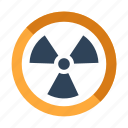 danger, hazard, hazardous, irradiation, radiation, radioactive, science icon