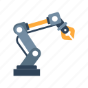 engineering, factory, industry, machine, robot arm, robotic, technology icon