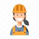 builder, construction, engineering, foreman, occupation, worker, worker woman icon