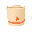 cartoon, cylindrical, flammable, fuel, industry, refinery, tank icon