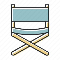 chair, directors, film, hollywood, industry, line, movies icon